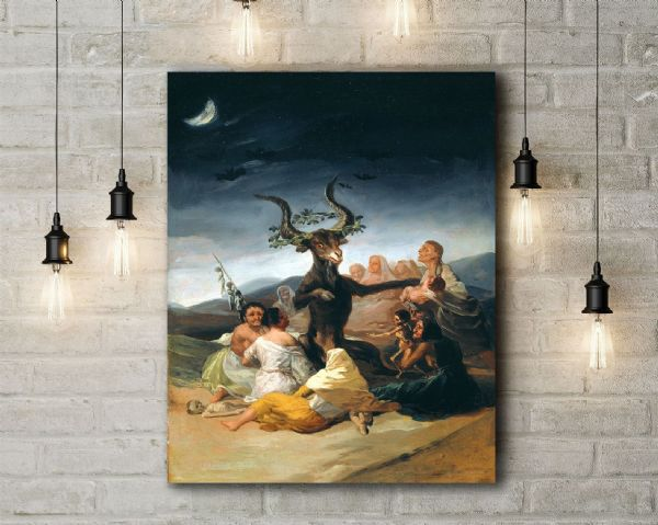 Francisco de Goya: Witches Sabbath. Fine Art Canvas.